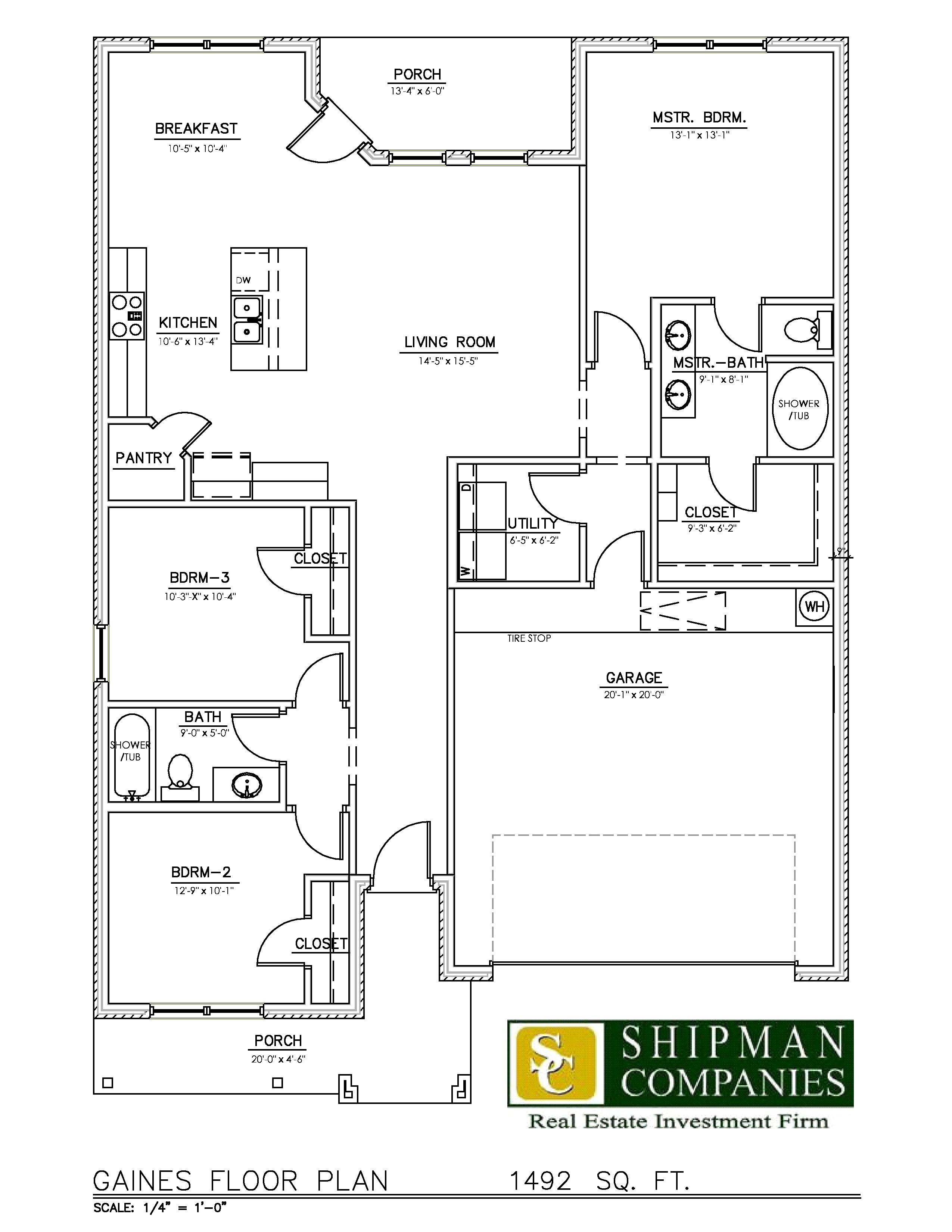 McPherson Village Gaines Floor Plan